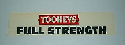 Tooheys Beer Full Strength original sticker decal for home bar collector