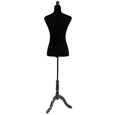 Valuebox Female Mannequin Torso Women Dress Form Fully Pinnable with Wooden T...