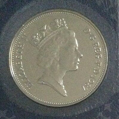 1987 10p coin, FDC (Fleur de coin), higher quality finish than BU, from year set