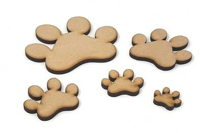 Cat and dog Paw prints 20mm 30mm 40mm 50mm 60mm 75mm Mdf Craft Paw print shape