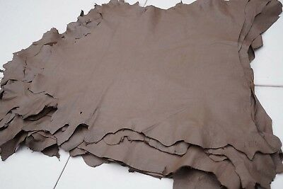 Taupe Brown lambskin hides Garment leather Genuine Sheep/Lamb skins