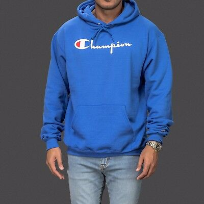 1d376d3ded65 Royal Blue Authentic Champion sportswear logo hoodie hoody hooded sweatshirt