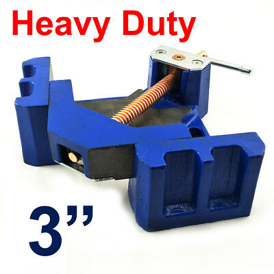 "Heavy Duty 3"" Corner Vice Metalworking Welding 90 Degree Clamp Casting Iron 7kg"