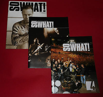 So What!  - Metallica Fan Club Magazine – 5 Copies from 2009/2010