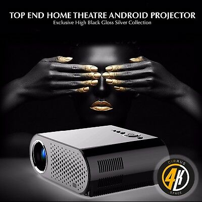 Cirrus4k GP100UP Android 6, Gloss Black TV/Video Projector