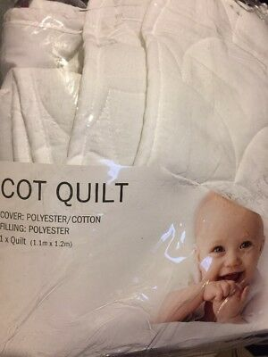 TARGET BUB THREAD COUNT COT QUILT COVER SET As NEW In Bag Baby Blanket Doona
