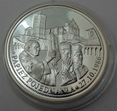 The pope of reconciliation POLAND Pope John Paul II Silver Proof Coin 2008