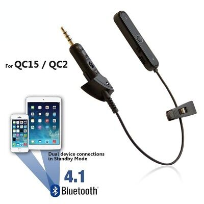 Bluetooth Adapter for Bose QC2 / QC15 Headphones - Wireless Converter Cable