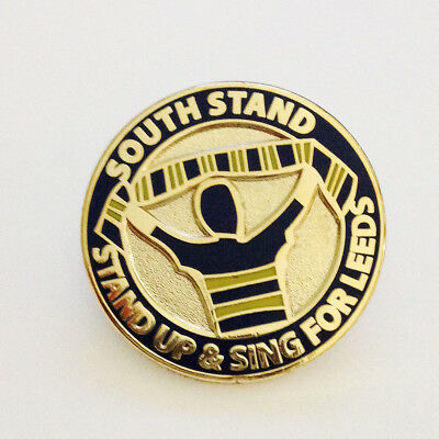 South Stand - Stand Up & Sing For Leeds - Rhinos Rugby League Pin Badge