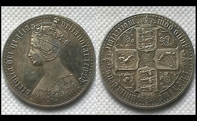 1847 Queen Victoria Gothic One 1 Florin MDCCCXLVII (2 Shillings) NOVELTY COIN