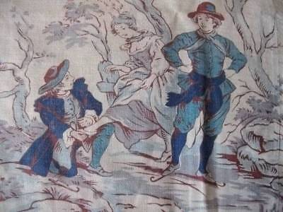 Rare Large French Chateau Panel  19th Century Toile De Jouy
