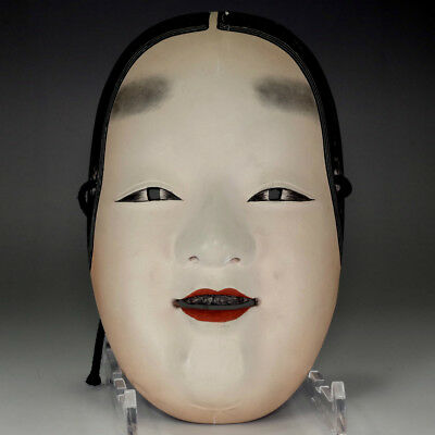 Zo-onna - Japanese lacquered wood woman Noh mask #2737