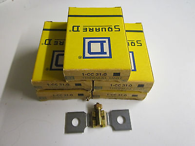 Lot of 5 Square D CC31.0 Overload Heater Thermal Units NOS