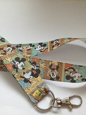 VINTAGE LOOK MICKEY MINNIE MOUSE  DISNEY Inspired Lanyard / ID / Document Holder