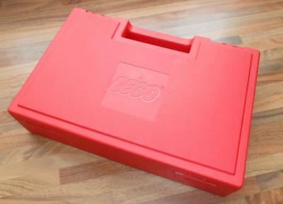 Lego Red Plastic Storage Bin Classic Container Vintage 1985 Case Carry Box