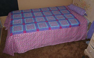 Handmade Patchwork Quilt Pink Purple Butterfly 68 X 86 Twin Double NEW Bedding