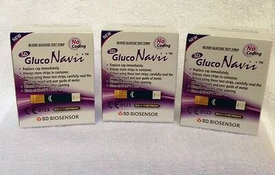Gluco Navii Blood Glucose Test Strips 150 Count Exp 05/2019 Diabetic Care