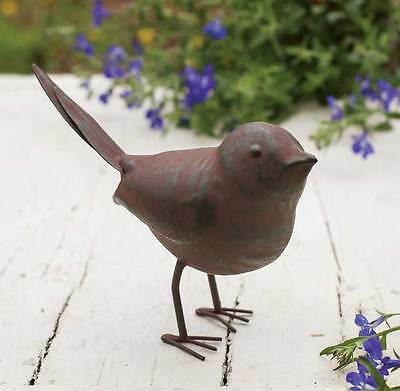 Vintage Metal Rustic Outdoor Songbird Garden Decor Statue Yard Lawn Ornament