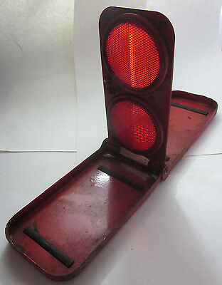 Vintage Arrow Safety Device Co Red Reflecto-Flare N170 Stimsonite AGA Reflectors