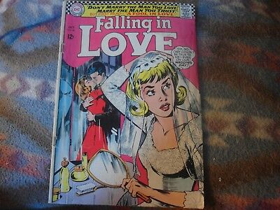 "FALLING IN LOVE #86 Comic Book Oct.1966 - BRIDE COVER ""Wedding Day"""