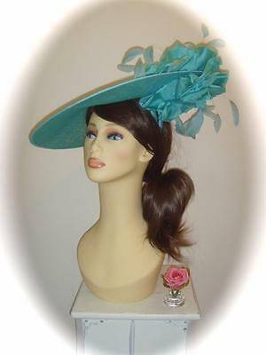 SALE Mother of Bride Ascot Occasion Wedding G/Snoxell Hatinator, Turquoise