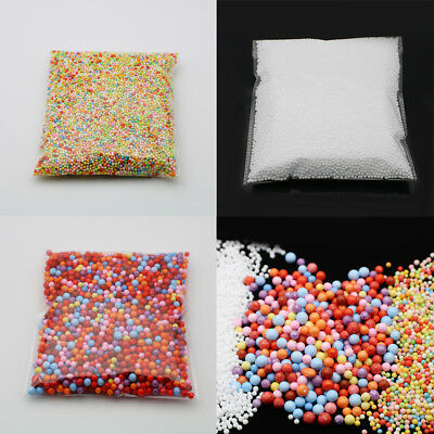 Wholesale 1Bag Polychrome Foam Mixed Mini Beads Filler Crafts Polystyrene Balls