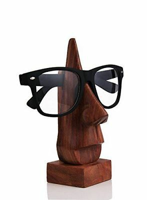 Wooden Nose Shaped Eyeglass Spectacle Holder Handmade Stand for Spectacle Holder