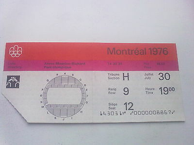 Ticket Olympic Games MONTREAL 30.07.1976 - WRESTLING (19:00)