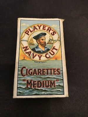 Players Navy Cut just post WW2 Antique Cigarette Packet