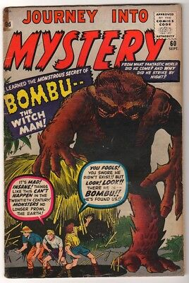 Marvel Comics VG PRE THOR #60 Journey into mystery BOMBU WITCH MAN