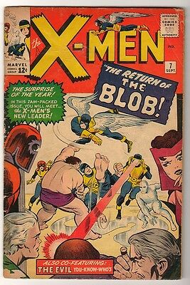 Marvel Comics VG X MEN  # 7 RETURN BLOB 2nd APPEARANCE 1964