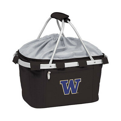 Picnic Time Unisex  Metro Basket Washington Huskies Embroidered Black Size OSFA