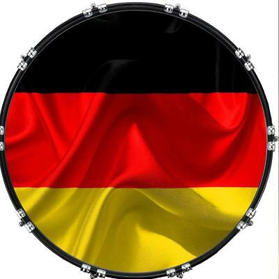 """Custom 22"""" Kick Bass Drum Head Graphical Image Front Skin Flag Germany 2"""