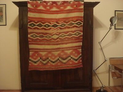 c. 1880 Navajo Transitional Blanket, Child's Blanket Revival
