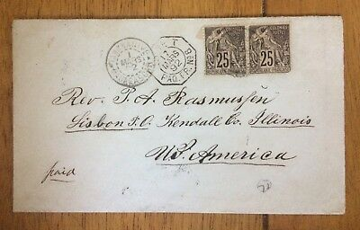 Norwegian Mission to Madagascar cover to USA 1892 Ex Rolfe Wyer coll sold $1,322