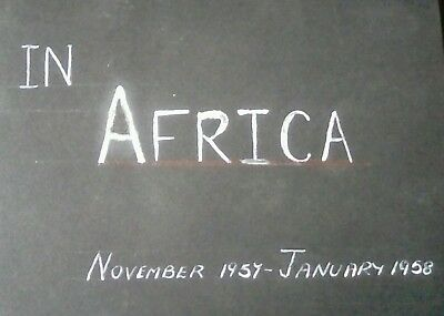 Superb album x 110 photographs Cruise to Africa 1957 includes Zulu native life