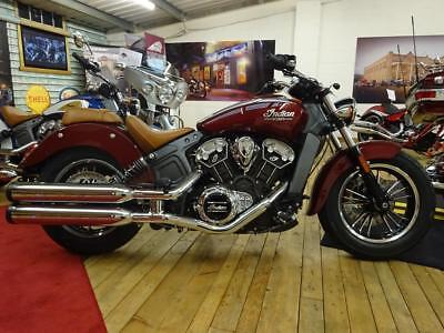 2018 Indian Scout Burgundy Metallic- 5 YEAR WARRANTY - 1 YR RAC