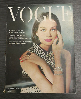 VOGUE Magazine October 1st 1962