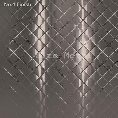 Food Truck & Restaurant Quilted Stainless Steel Sheet, #4 Finish, 24Ga 4'x10'