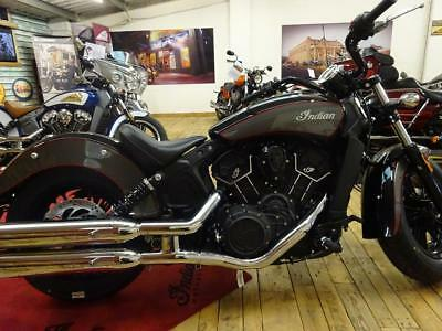 In Stock 2018 Indian Scout 60 Sixty 2-Tone Black Titanium & Fireball Pinstripe