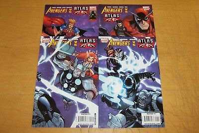MARVEL COMICS AVENGERS vs ATLAS 1-4 FULL SET PARKER 2010