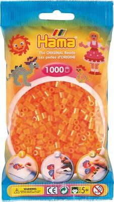 1 000 perles standard MIDI (Ø5 mm) orange néon - Hama