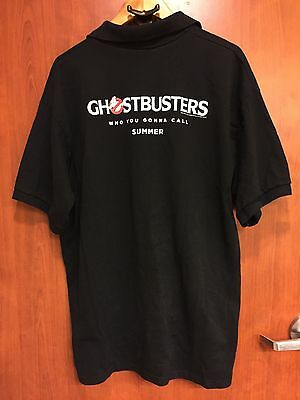 ☀Ghostbusters Cinemark☀PROMO Movie Theater Worker Polo Rugby Shirt Sz XL