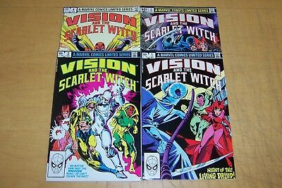 Marvel Comics Vision And Scarlet Witch 1-4 Full Set 1982