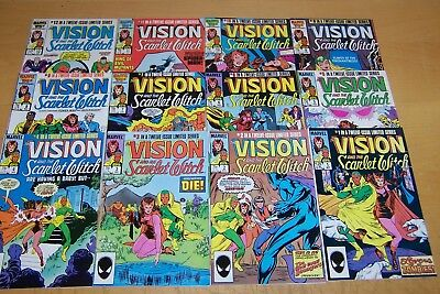 Marvel Comics Vision And The Scarlet Witch 1-12 Full Set 1985/86