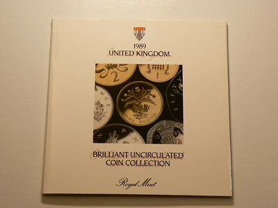 Great Britain 1989, United Kingdom 7 Coin Collection Set, Royal Mint  #3820