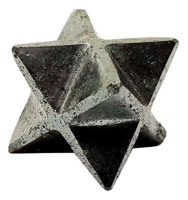 Merkaba Natural Hematite Star Crystal Stone of Protection Great For Grounding