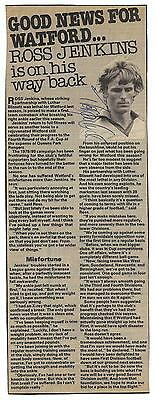 Watford - Ross Jenkins Signed Article