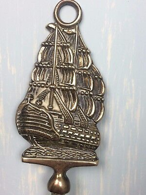 Vintage Brass Toasting Fork HMS Victory - Nautical