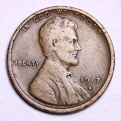1917-S Lincoln Wheat Cent Penny LOWEST PRICES ON THE BAY!  FREE SHIPPING!